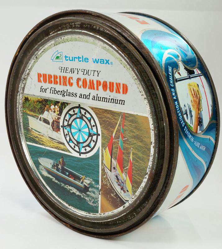 RD19749 Vintage Turtle Wax Heavy Duty Rubbing Compound for Fiberglass & Aluminum Boats 21 oz DSC05162