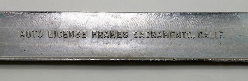 RD17019 Vintage Steel License Plate Frame EDITOR WA. RURAL POSTMAN DSC05169