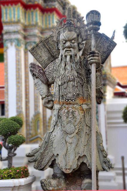 Guardian/Warrior at Wat Pho, Bangkok, Thailand.