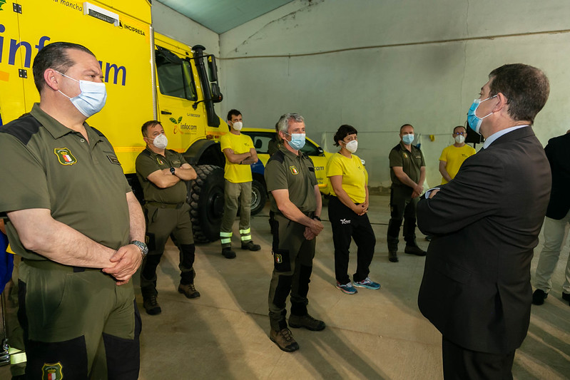 Visita al COP de prevención de incendios de la provincia de Cuenca