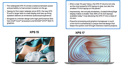 The new XPS 15 & XPS 17 for Singapore. Click to enlarge.