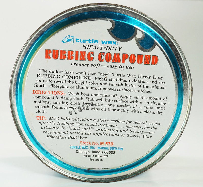 RD19749 Vintage Turtle Wax Heavy Duty Rubbing Compound for Fiberglass & Aluminum Boats 21 oz DSC05160