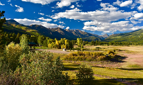 colorado america usa unitedstates americanwest sanjuan mountains peaks mountain range sunlight trees foliage sky puffy clouds ridge vista view forest valley nature elitegalleryaoi bestcapturesaoi aoi northamerica cloud natural tree leaves branches shadow landscape paysage paisaje paesaggio landschaft nikon d7200 nikkor