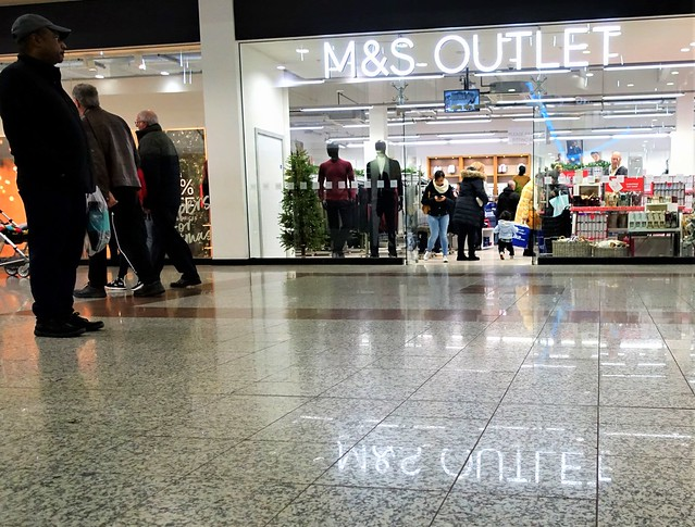 Inside the Lowry shopping complex at Salford Quays