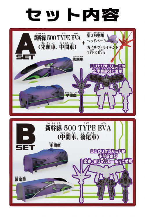 初號機造型新幹線在食玩登場!F-toys《新幹線變形機器人》CHANGE!SHINKALION  500 TYPE EVA(チェンジ!シンカリオン 500 TYPE EVA)