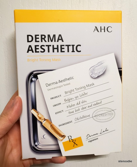 AHC Derma Aesthetic Bright Toning Mask box of 5