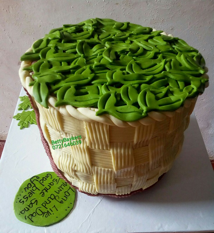 Tea Picking Basket Cake by Betty Bakers