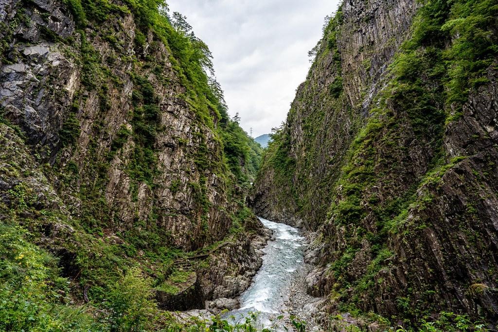 清津峡の渓谷美