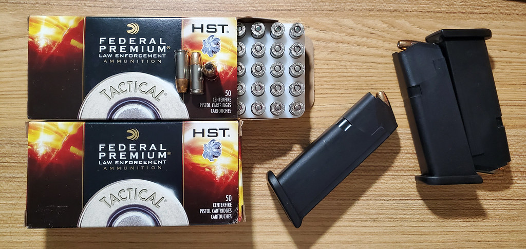 Federal Premium Tactical HST 9mm Luger ammunition