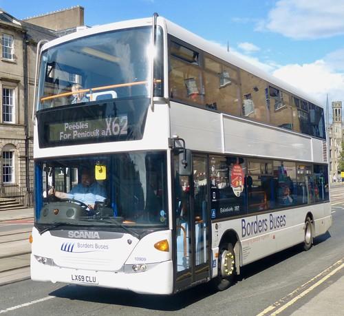 LX59 CLU 'Borders Buses' No. 10909. Scania N230UD / Scania OmniCity on Dennis Basford's railsroadsrunways.blogspot.co.uk'