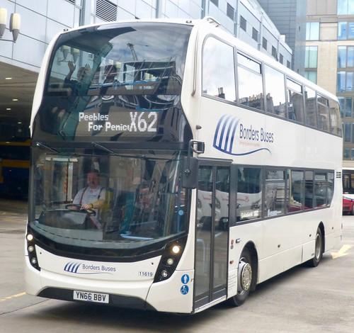 YN66 BBV 'Borders Buses' No. 11622. Scania N250UD / 'ADL' Enviro 400MMC on Dennis Basford's railsroadsrunways.blogspot.co.uk'