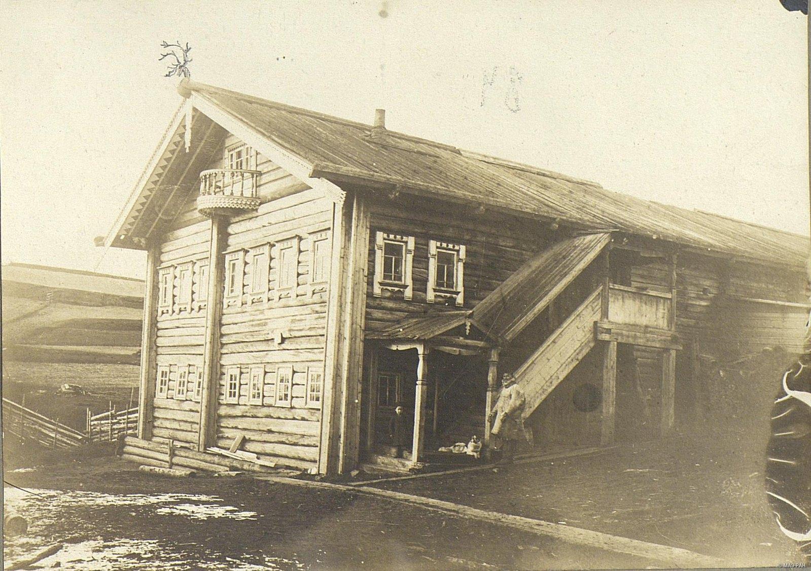 Мезень. Двухэтажный дом зажиточного крестьянина