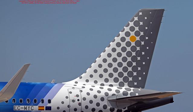 EC-MYC LMML 20-05-2020 Vueling Airlines Airbus A320-232 CN 8238