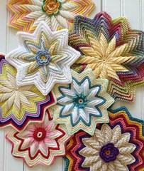 Crochet Flower Pad.  Tutorial Free. 5
