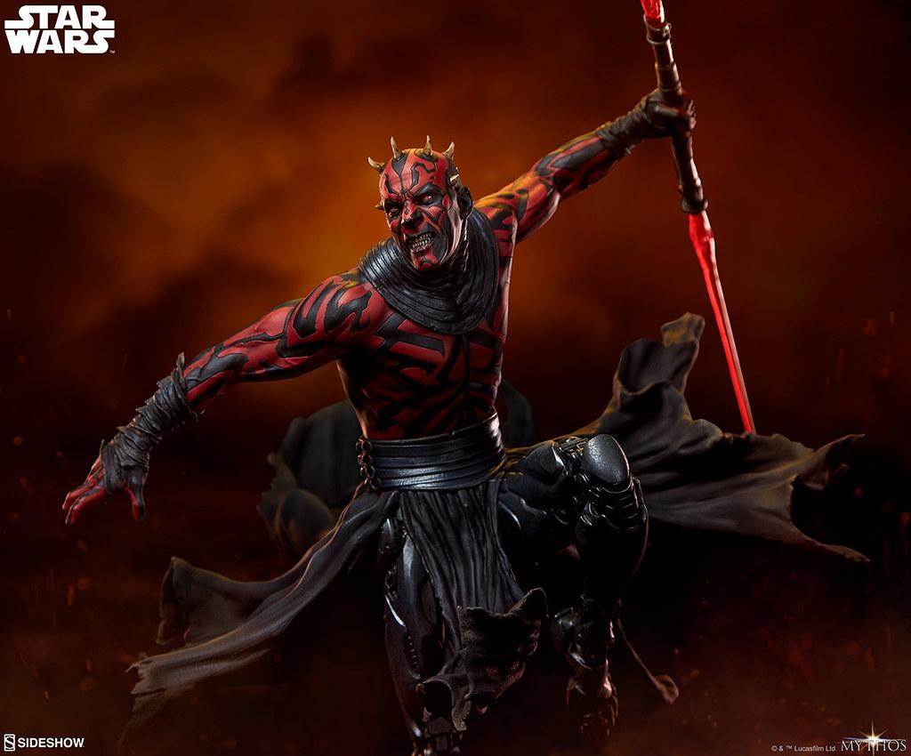 更具侵略性的強化犄角,永遠的復仇者殺到! Sideshow Collectibles「達斯·魔 (Darth Maul)」- Mythos 全身雕像