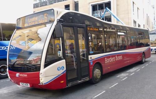 YA13 AEN 'Borders Buses' No. 11311. Optare Versa V1170 on Dennis Basford's railsroadsrunways.blogspot.co.uk'
