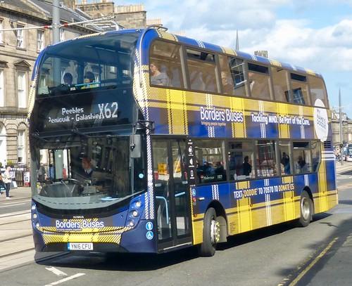 YN16 CFU 'Borders Buses' No. 11622 'My Name's Doddie Foundation'. Scania N250UD / 'ADL' Enviro 400MMC on Dennis Basford's railsroadsrunways.blogspot.co.uk'