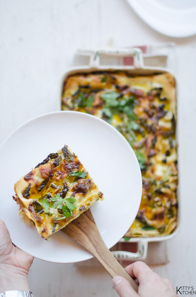 Lasagne asparagi e mozzarella