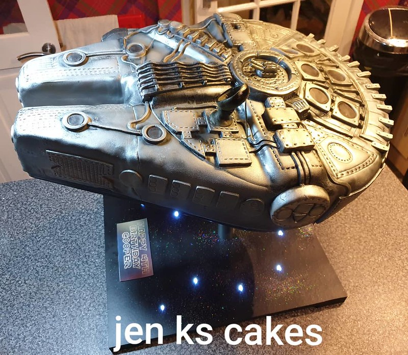 Cake for a Mad Millennium Falcon Fan by Jen KS Cakes and Catering
