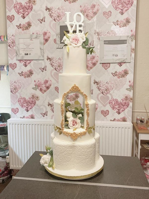 Cake by Vicky Bassett of Butterfly Creations Cakes and Flowers