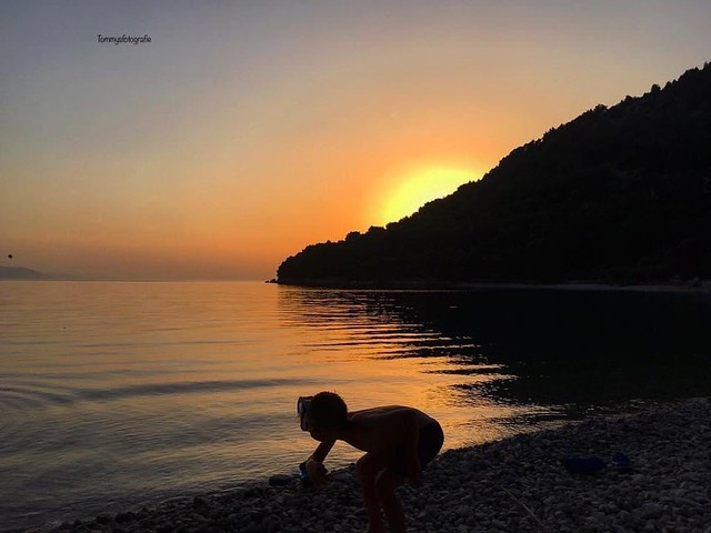 This what children need, playing till the Sunset goes down  Photo taken in Zivogošće 2019, Spring