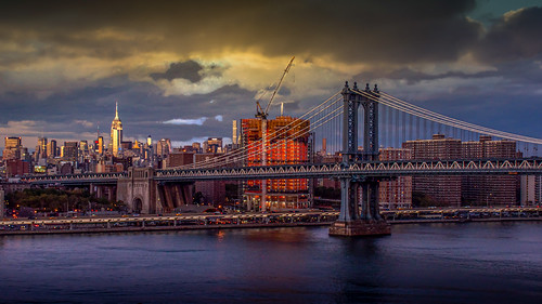 sunset over manhattan bridge new york nikon d5500 outdoor national could
