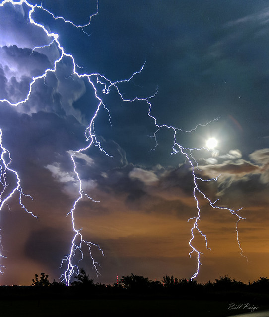 Moon lit Storm over Deer Creek, Oklahoma