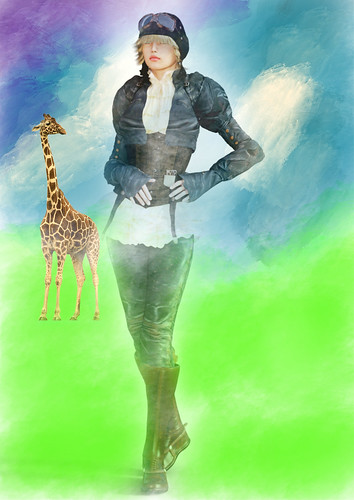 """""""Hey, What Are You Doing In My Painting"""" Said The Giraffe"""
