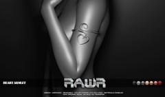 RAWR!  Heart Armlet