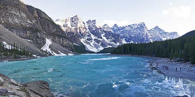 Moraine Lake Panorama. Canada.