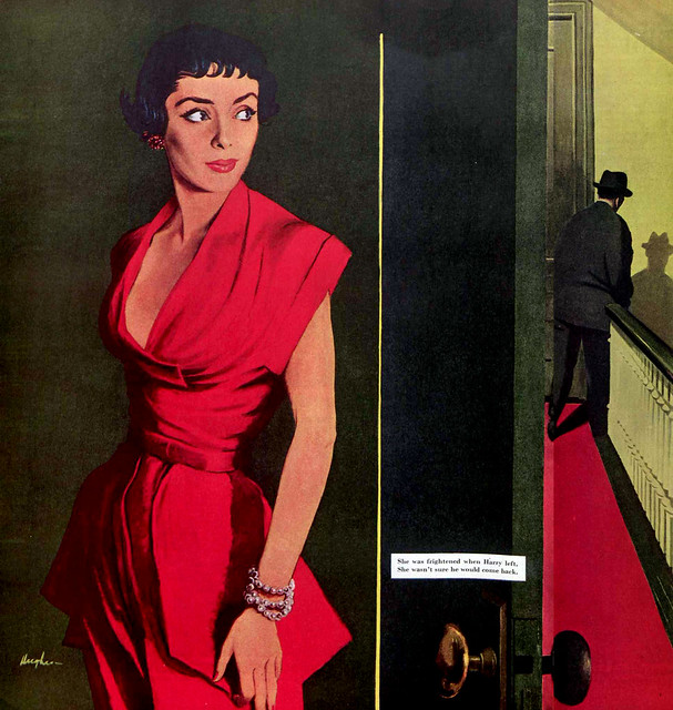 There Goes My Man, Saturday Evening Post, June 17, 1950, illustration by George Hughes