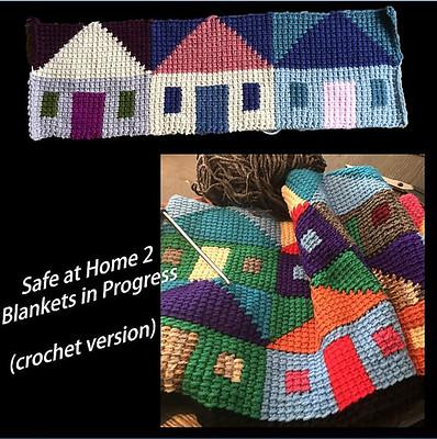 Safe at Home 2 Blanket (crochet version) WIPs