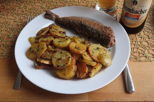 Bratkartoffeln mit Brathering