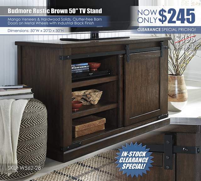 Budmore 50in TV Stand_W562-28_Clearance_New