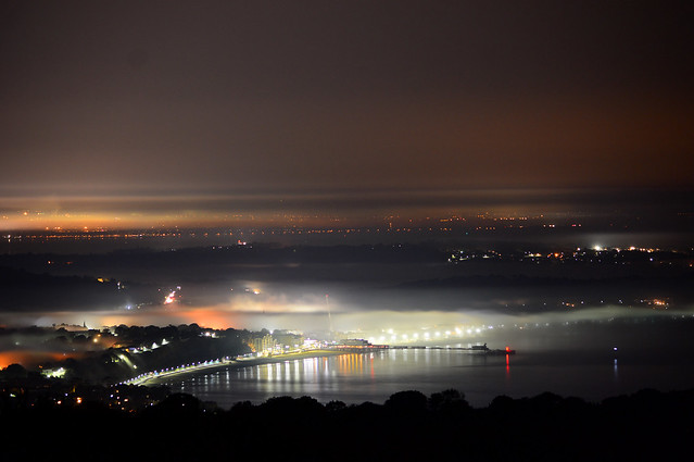 Sandown Bay and Pier as the Fog Rolled in...