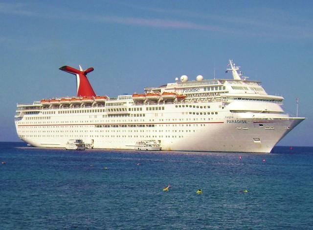 Carnival Cruise Ship off Grand Cayman