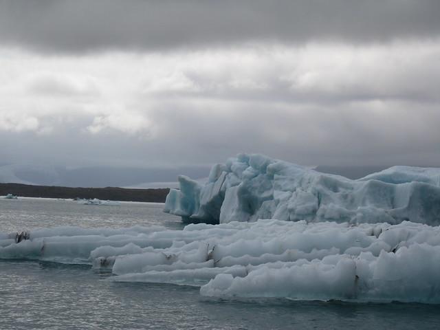 ice of Jokulsarlon ( Glacier Lagoon )