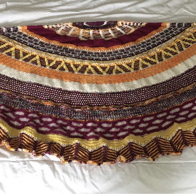 Heidi finished Fantastitch by Stephen West too! Like Jen's it is huge and this photo does not do it justice!