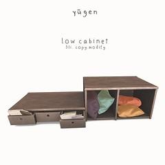Yūgen.// low cabinet