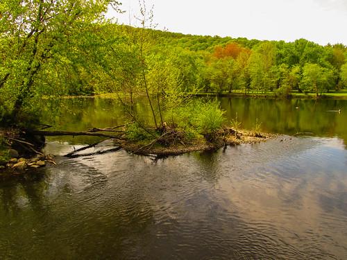 smack53 continentalsoldierspark mahwah newjersey water reflections ramaporiver trees wood woodedarea park countypark springtime spring canon powershot sx530hs canonpowershotsx530hs