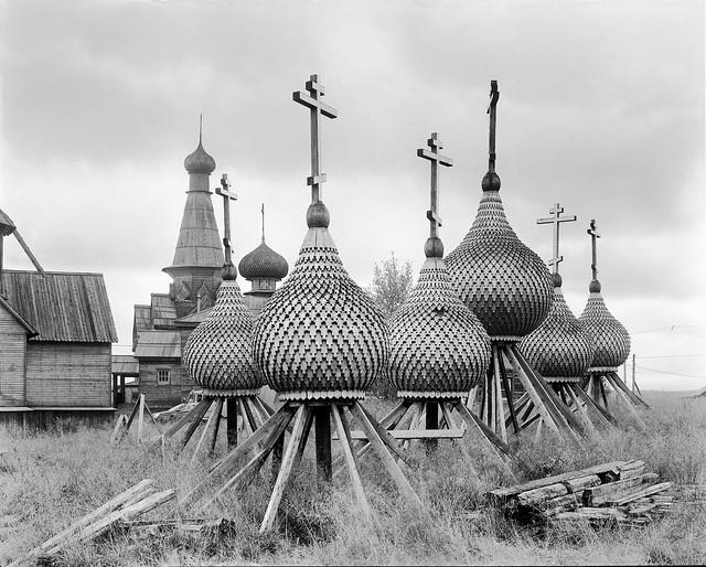 Купола Варзуга / Domes of church in Varzuga