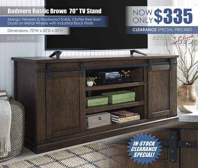Budmore XL TV Stand_W562-68_Clearance_New