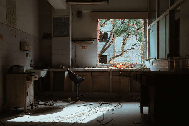 Abandoned Chinese Hospital Window View (Explored)