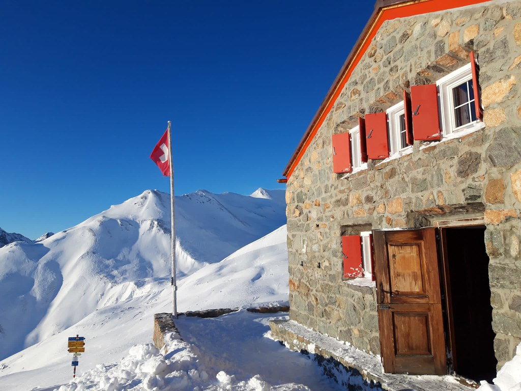 Chamanna Es-cha / Es-cha Hütte Albula Alpen Schweiz foto 04