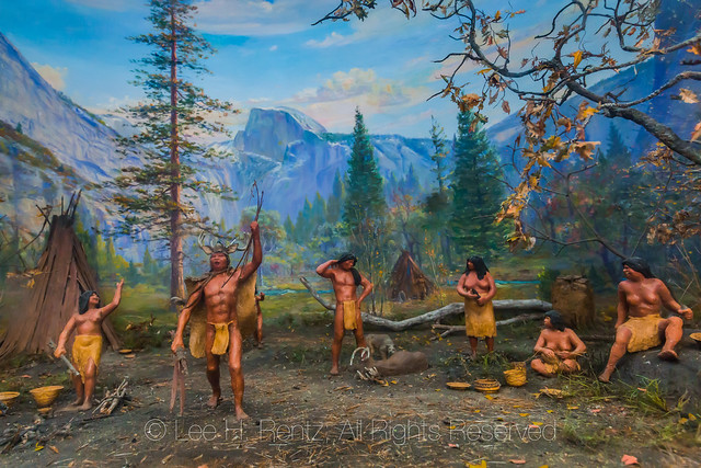 Diorama of Indian Life in Yosemite Valley
