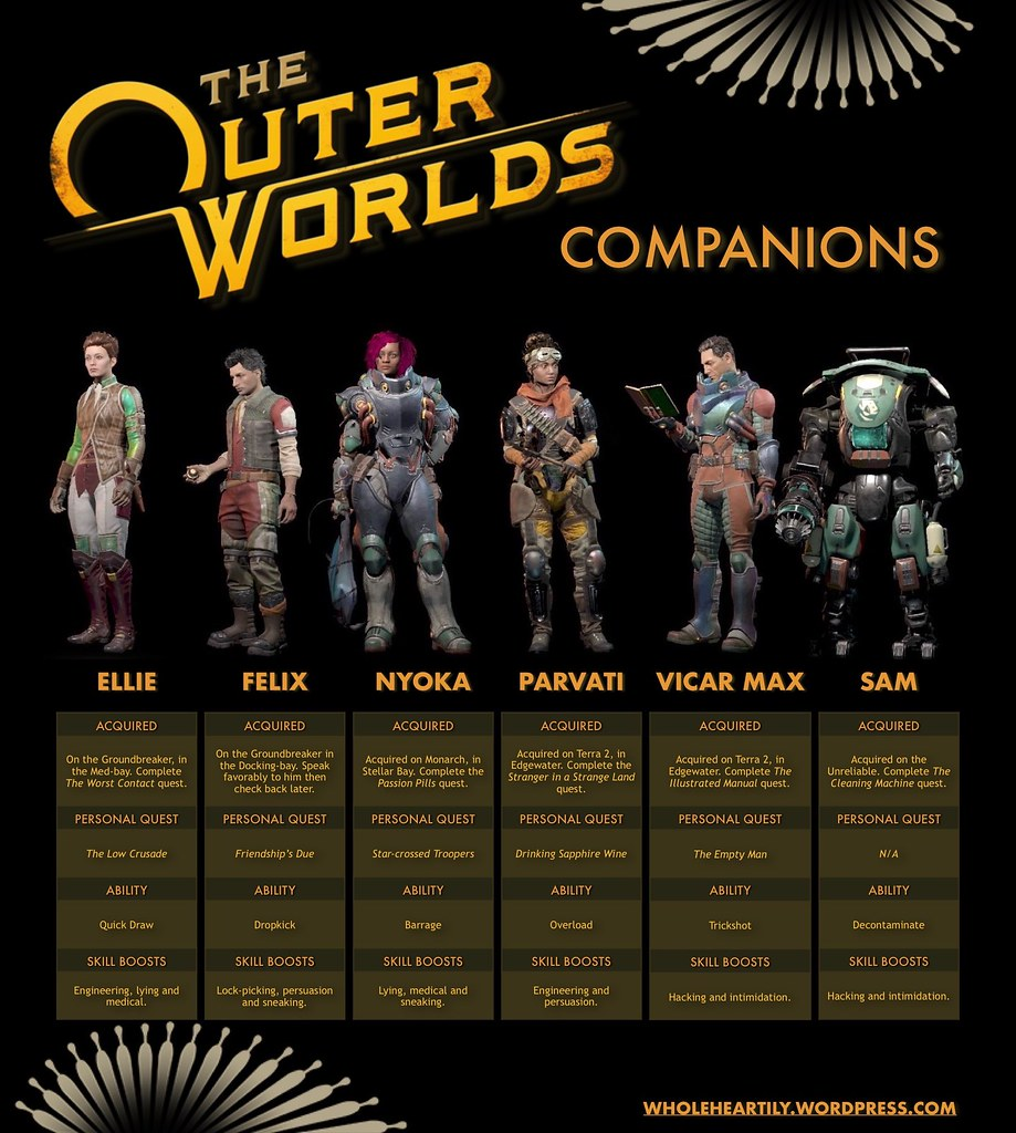 The Outer Worlds Companions