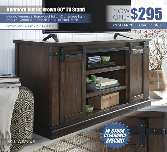Budmore 60in Stand_W562-48_Clearance_New