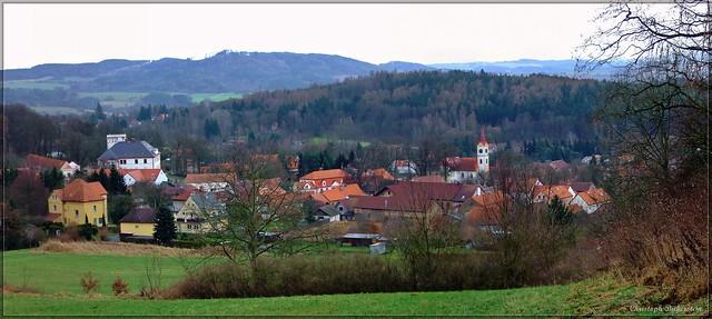 Pischel (Pyšely) - Ansicht von der Loretakapelle