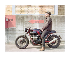 Chris and his Moto Guzzi V7