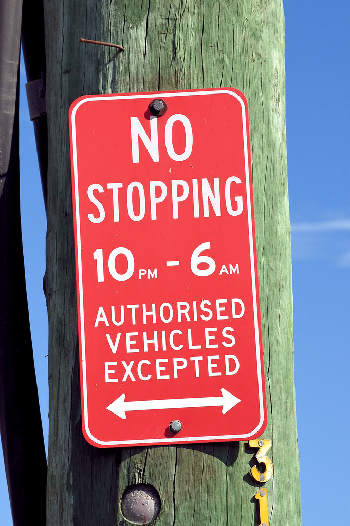No Stopping Sign, Neville St, Smithfield, Sydney, NSW.